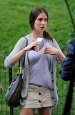 ALISON BRIE on the Set of Sleeping with Other People in New York