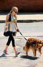 AMANDA SEYFRIED Walks Her Dog in Williamstown