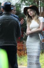 AMBER HEARD on the Set of Black Mass in Lynn