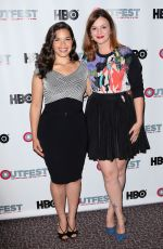 AMBER YAMBLYN and AMERICA FERRERA at X/Y Screening in Los Angeles
