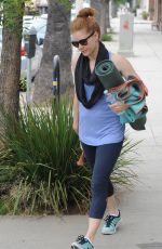 AMY ADAMS Leaves Yoga Class in Los Angeles