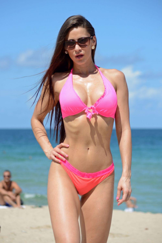 ANAIS ZANOTTI in Bikini at a Beach in Miami 2907
