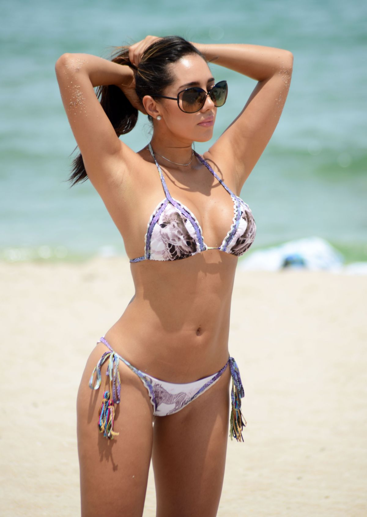 ANDREA CALLE in Bkini at a Beach in Miami