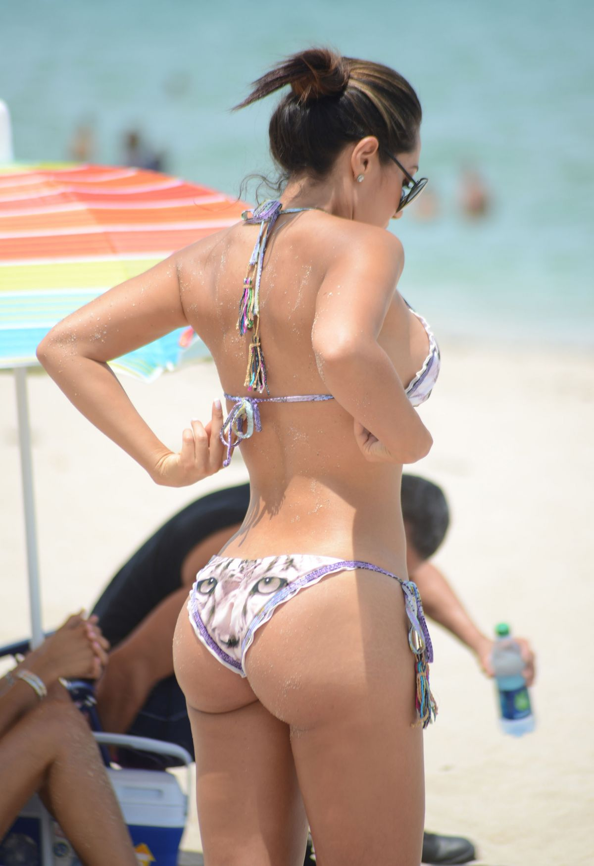 andrea calle in bkini at a bea