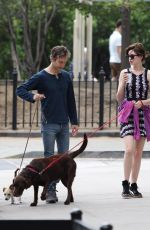 ANNE HATHAWAY and Adam Shulman Walks Her Dogs Out in New York