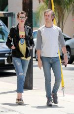 ANNE HATHAWAY Out and About in Beverly Hills