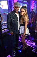 ARIANA GRANDE on the Set of  MTV