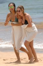 ASHLEY BENSON and SHAY MITCHELL in Bikinis at a Beach in Maui