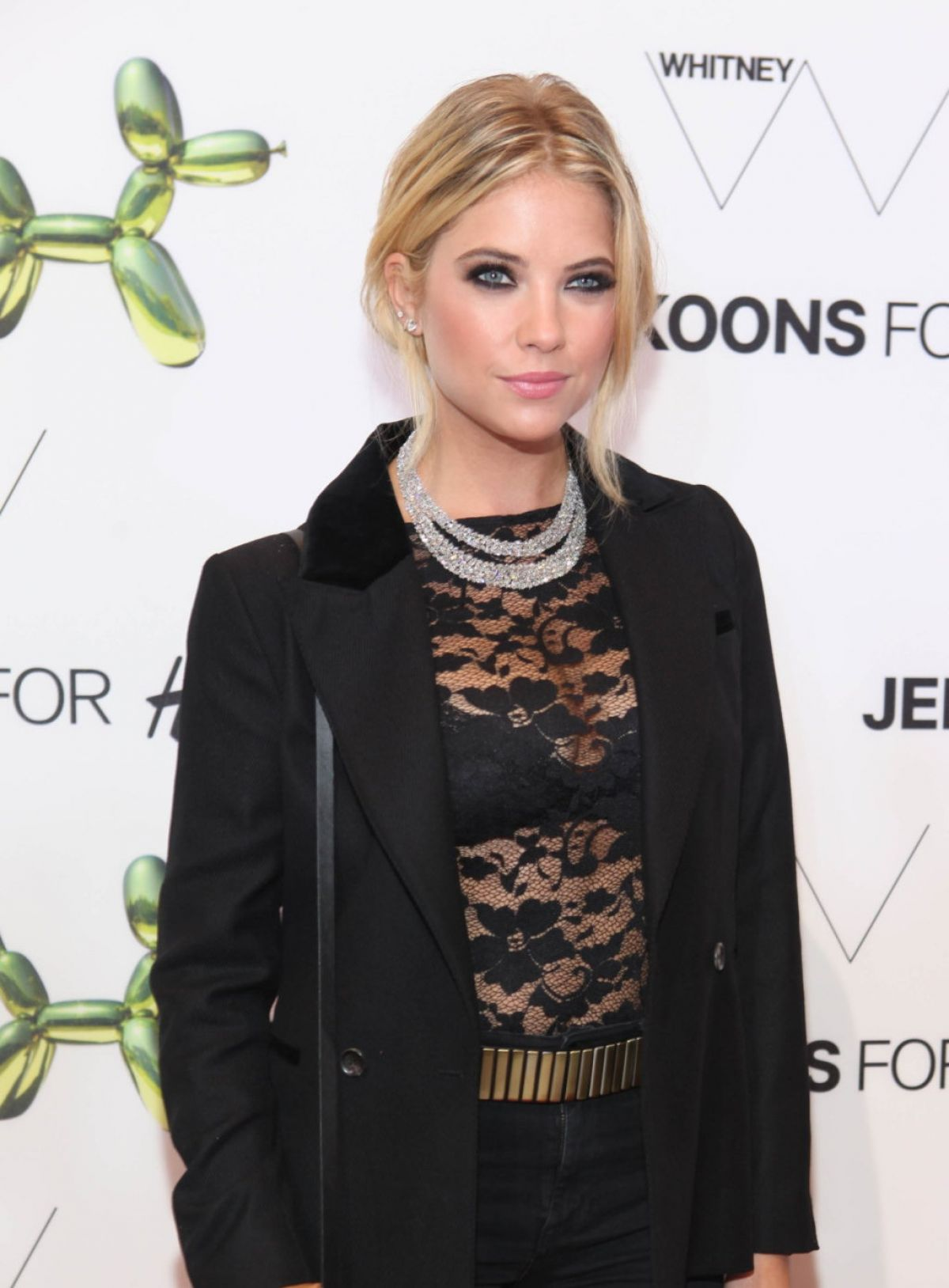 ASHLEY BENSON at H&M Flagship Store Launch in New York