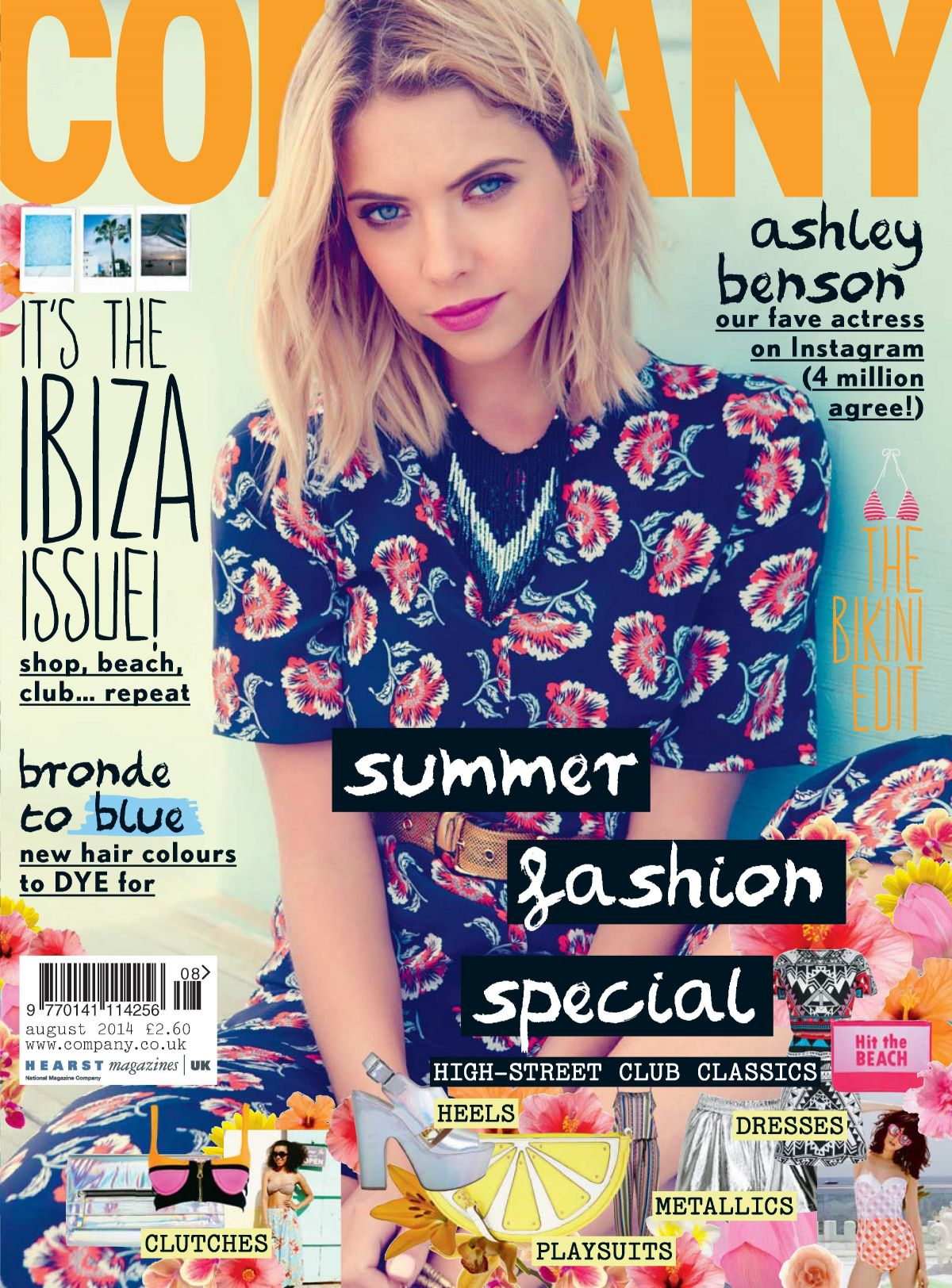 ASHLEY BENSON on the Cover of Company Magazine, August 2014 Issue