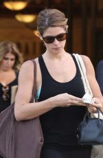 ASHLEY GREENE in Tights Shopping at Bristol Farms in West Hollywood