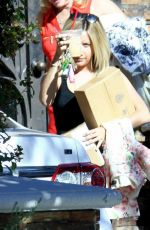 ASHLEY TISDALE Leaves Her Moms House in Toluca Lake