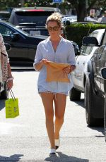 ASHLEY TISDALE Leaves Planet Blue in Beverly Hills