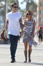ASHLEY TISDALE Out and About in Santa Monica