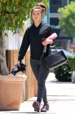 BRENDA SONG Heading to a Gym in Beverly Hills