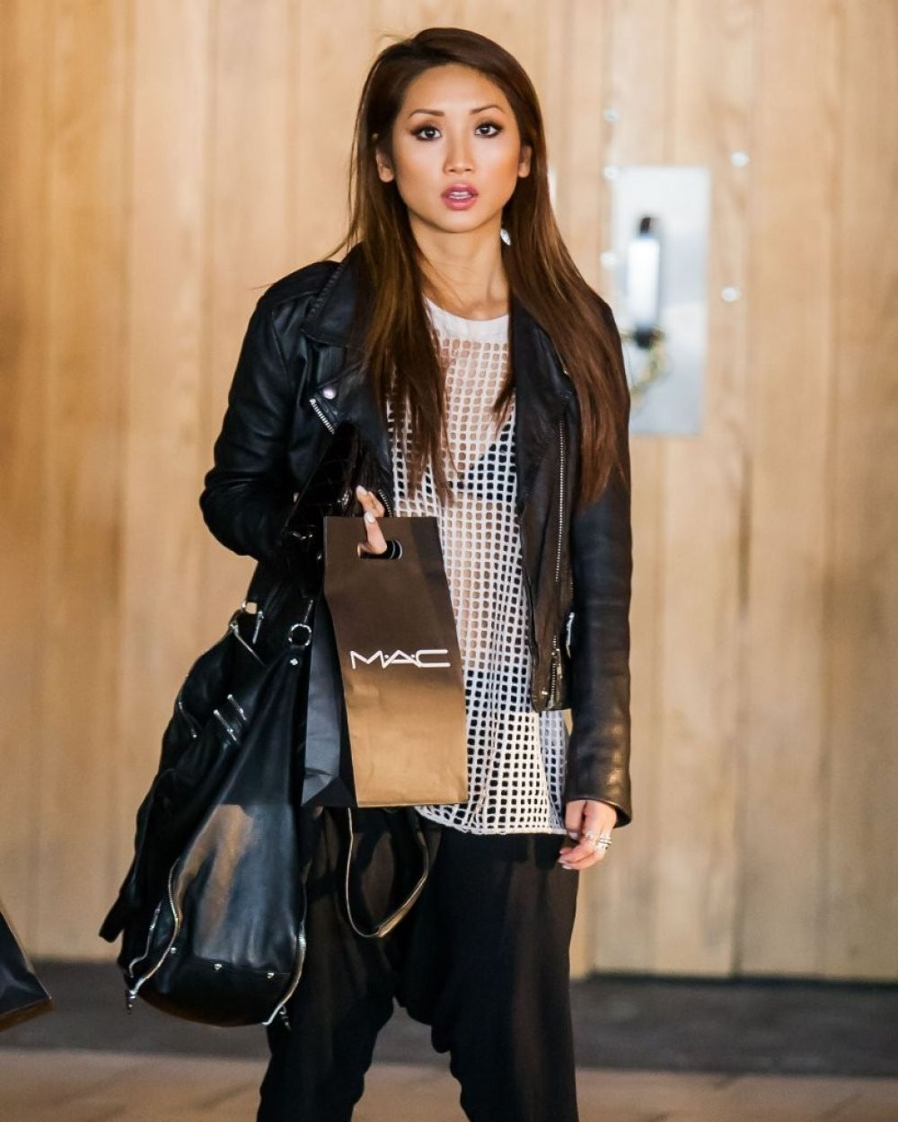 BRENDA SONG Out Shopping in Woodland Hills