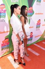 BRIE and NIKKI BELLA at 2014 Kid's Choice Sports Awards in Los Angeles