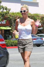 BRITNEY SPEARS in Shorts and Tank Top at Starbucks in Los Angeles