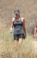 BRITNEY SPEARS in Shorts and Tank Top Hiking in Calabasas