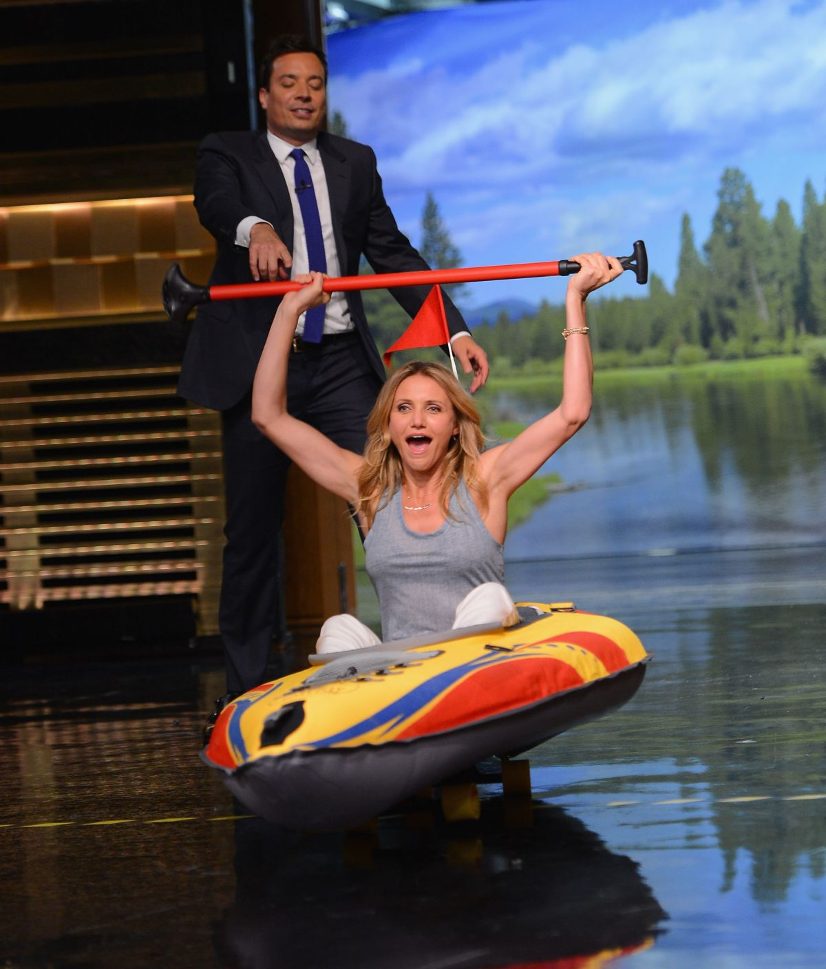 CAMERON DIAZ at The Tonight Show Starring Jimmy Fallon