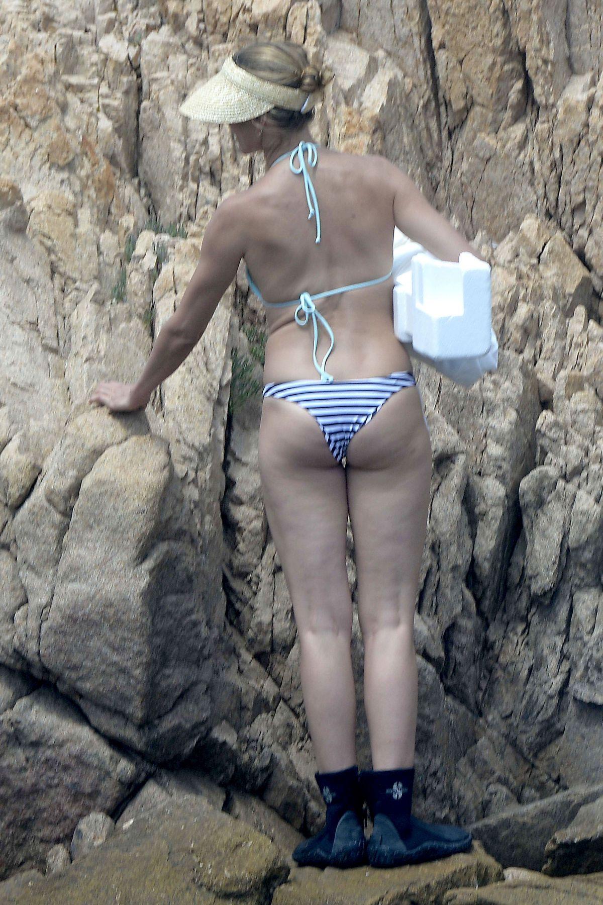 CAMERON DIAZ in Bikini at a Beach in Sardinia - HawtCelebs