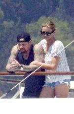 CAMERON DIAZ in Bikini Bottom at a Boat in Italy