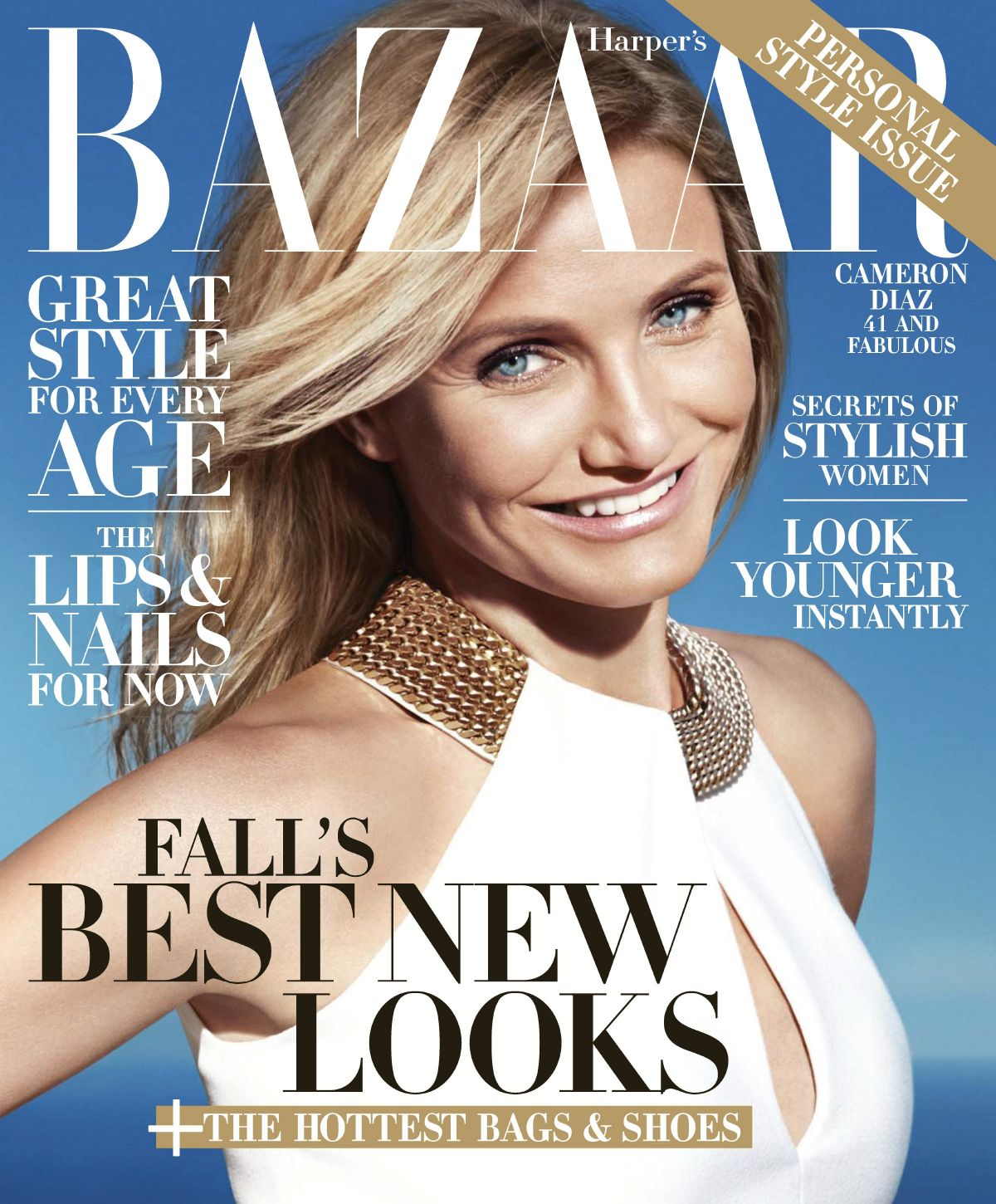 CAMERON DIAZ on the Cover of Harper