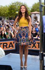 CAMILLA LUDDINGTON on the Set of Extra in Universal City