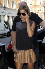CHERYL COLE Arrives at BBC Radio 1 in London