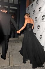 CHERYL COLE Arrives at Her Wedding Party in London