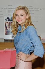 CHLOE MORETZ at If I Stay Fan Event at Sprinkles Cupcakes in Chicago