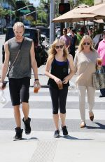 CHLOE MORETZ Out and Abpit in Beverly Hills