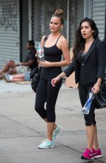 CHRISSY TEIGEN Heading to a Gym New York