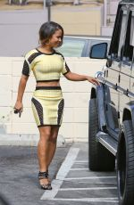 CHRISTINA MILIAN at a Gas Station in Los Felix