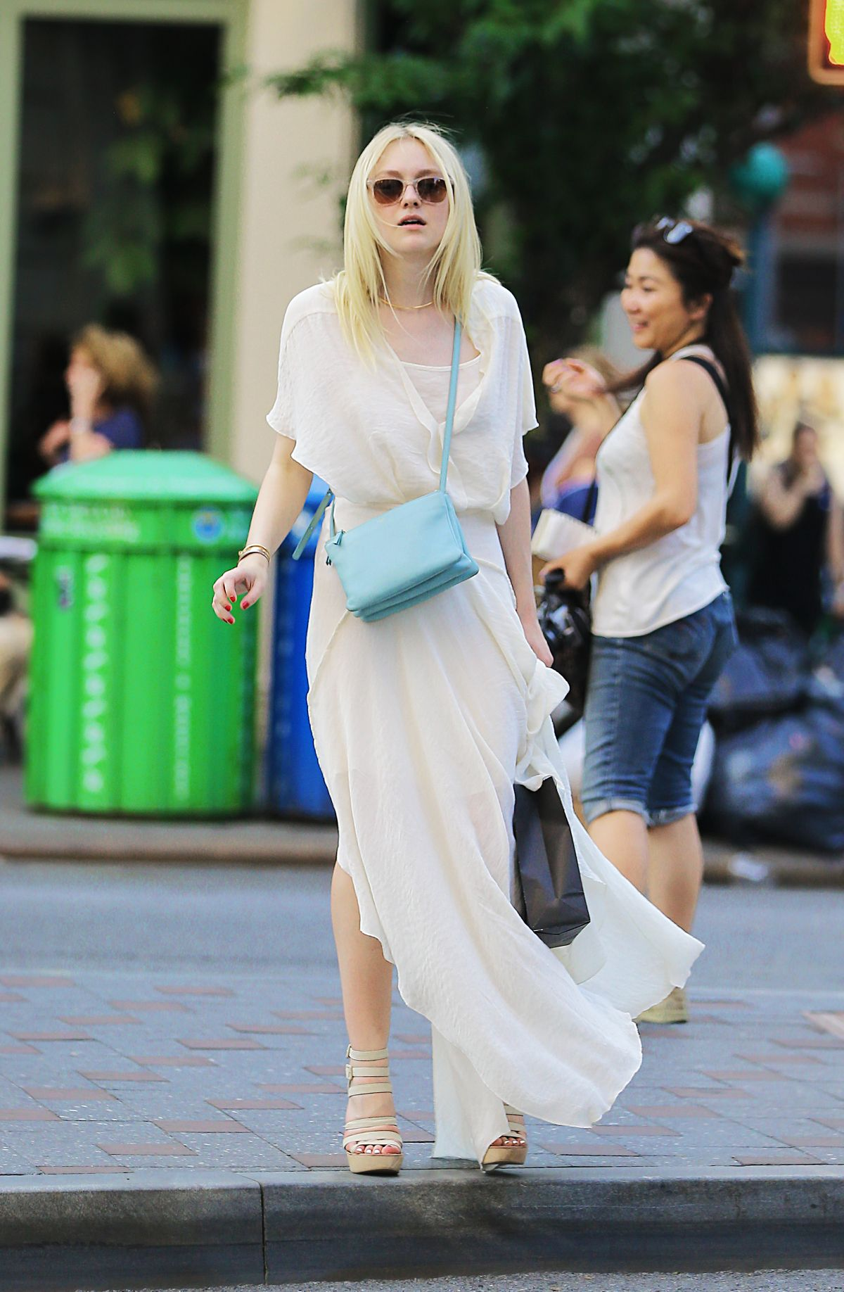 DAKOTA FANING Out and About in New York