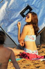 DEMI HARMAN in Bikini on the Set of Home and Away in Sydney
