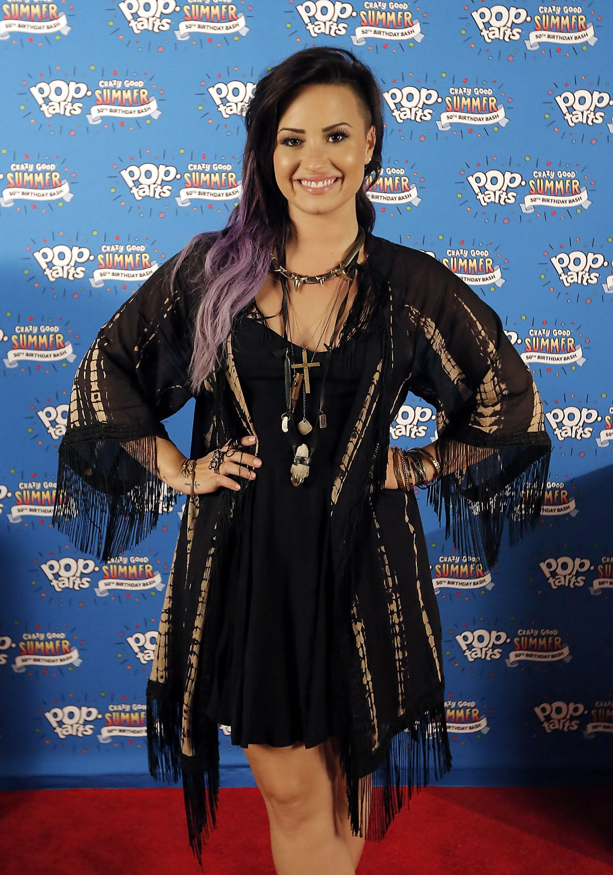 DEMI LOVATO at Pop-tarts #crazygoodsummer Concert Series