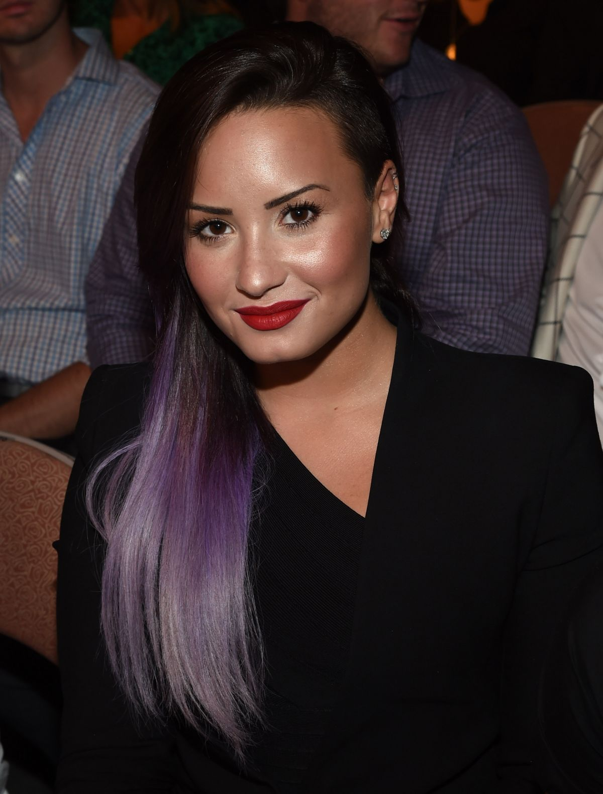 DEMI LOVATO at UFC 175, wWeidman vs Machida