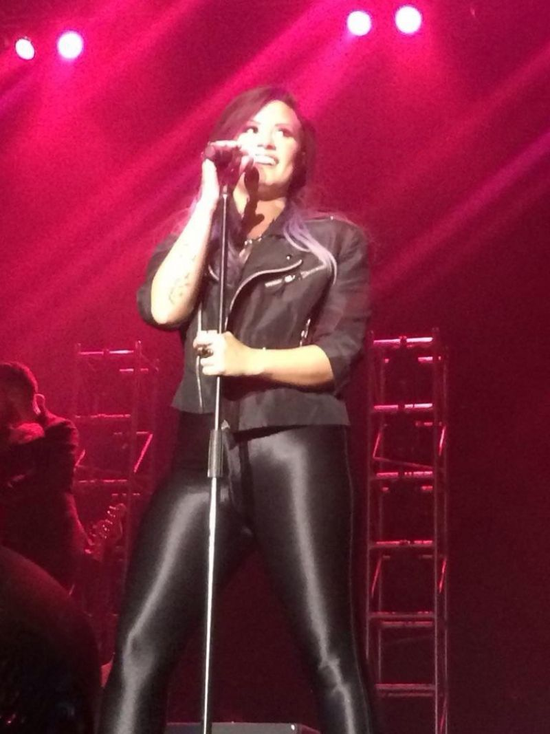 DEMI LOVATO Performs at Neon Lights Tour in Reno