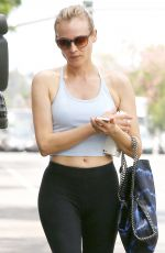 DIANE KRUGER in Tights Leaves Pilates Class in West Hollywood