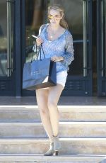 ELIZABETH BERKLEY Leaves Barneys New York in Beverly Hills