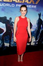 ELIZABETH HENSTRIDGE at Guardians of the Galaxy Premiere in Hollywood