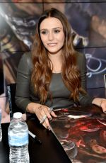 ELIZABETH OLSEN at Avengers: Age of Ultron Booth Signing at Comic-con