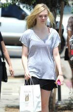ELLE FANINNG Out Shopping in Culver City