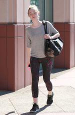 ELLE FANNING Arrives at a Dance Class in Studio City