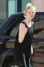 ELLE FANNING Arrives at Liv
