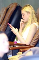 ELLE FANNING at Pure Nails Salon in Studio City