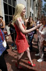 ELLE FANNING Leaves Hard Rock Hotel in San Diego