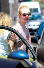 ELLE FANNING Out and About in Beverly Hills
