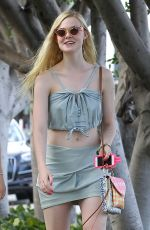 ELLE FANNING Out Shopping in Studio City